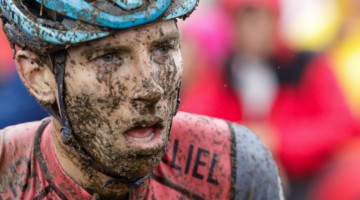 Kerry Werner battled with Curtis White for most of Sunday and showed the effects after the race. Faces of the 2019 World Cup Waterloo. © D. Mable / Cyclocross Magazine