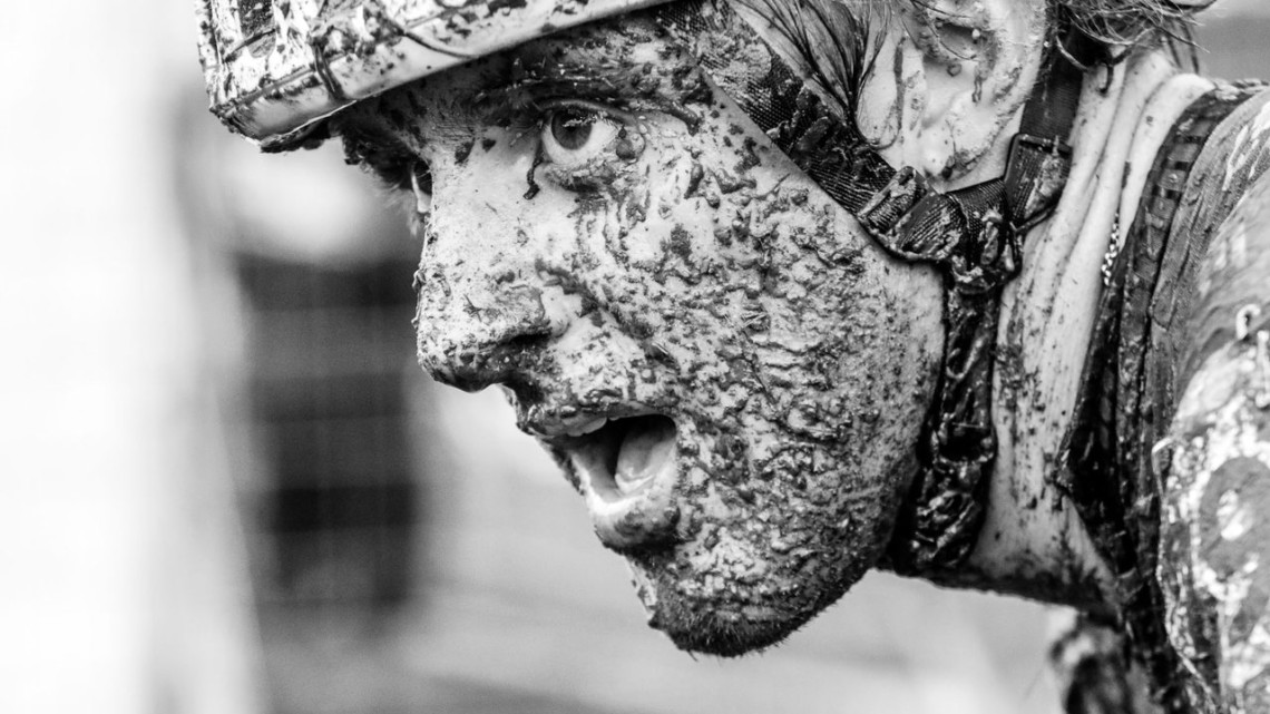Gage Hecht shows the effects of his day in the mud. Faces of the 2019 Trek CX Cup weekend. © D. Mable / Cyclocross Magazine
