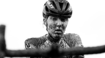 Manon Bakker started strong and finished eighth. 2019 World Cup Waterloo, Elite Women. © D. Mable / Cyclocross Magazine