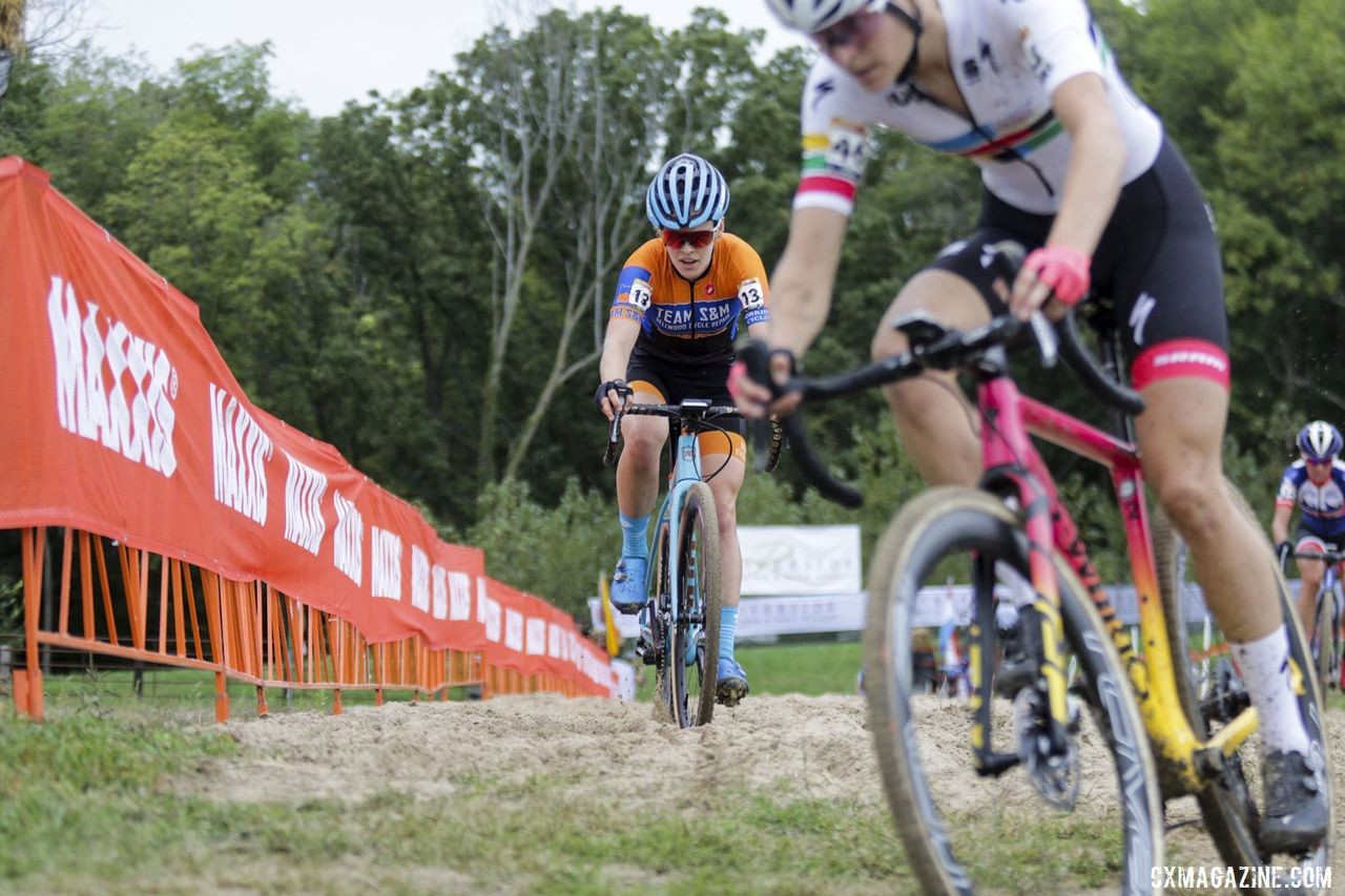 Honsinger finished third at the Jingle Cross World Cup this year. 2019 Jingle Cross World Cup, Elite Women. © D. Mable / Cyclocross Magazine