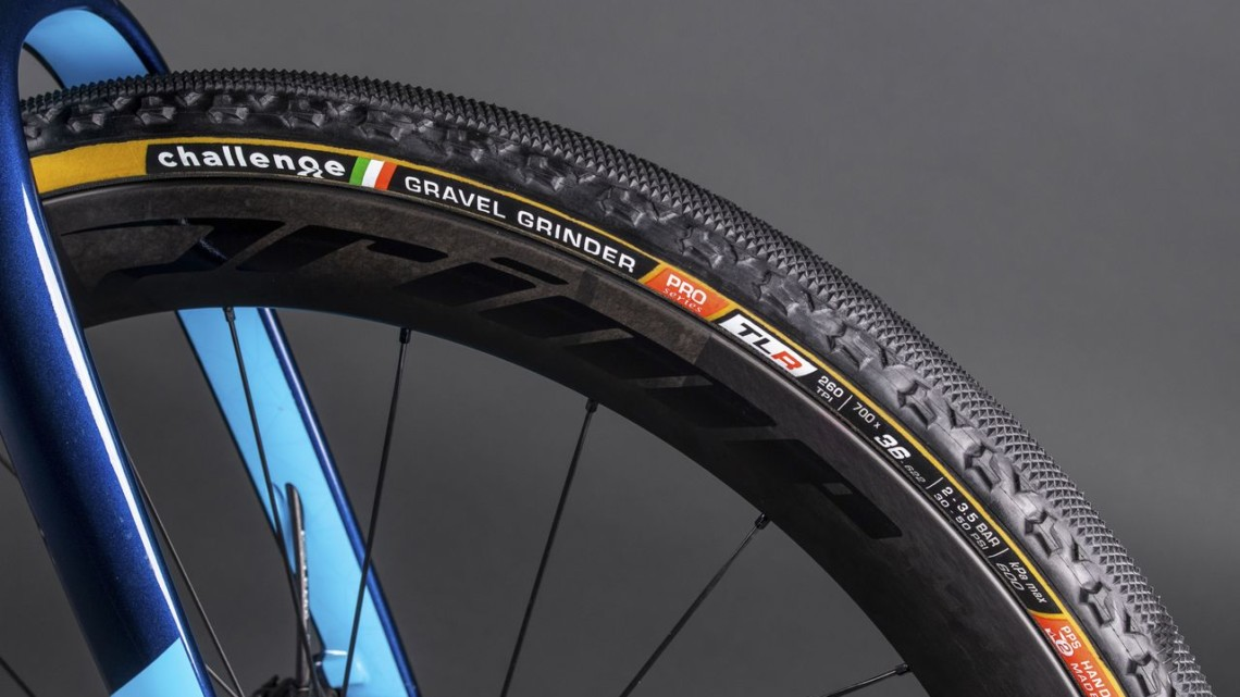 Challenge launched Handmade Tubeless-Ready versions of its gravel tires today. © Challenge Tires
