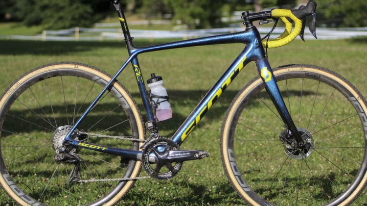 Vincent Baestaens Rochester Day 1 Winning Scott Addict CX. © Z. Schuster / Cyclocross Magazine