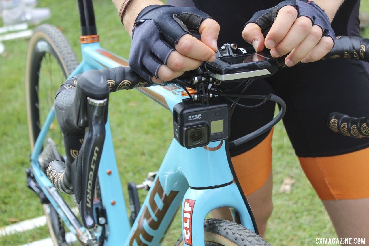 Honsinger got selected for a front GoPro for Cyclocross Television footage in Rochester. Clara Honsinger's 2019/20 Kona Major Jake. © Z. Schuster / Cyclocross Magazine