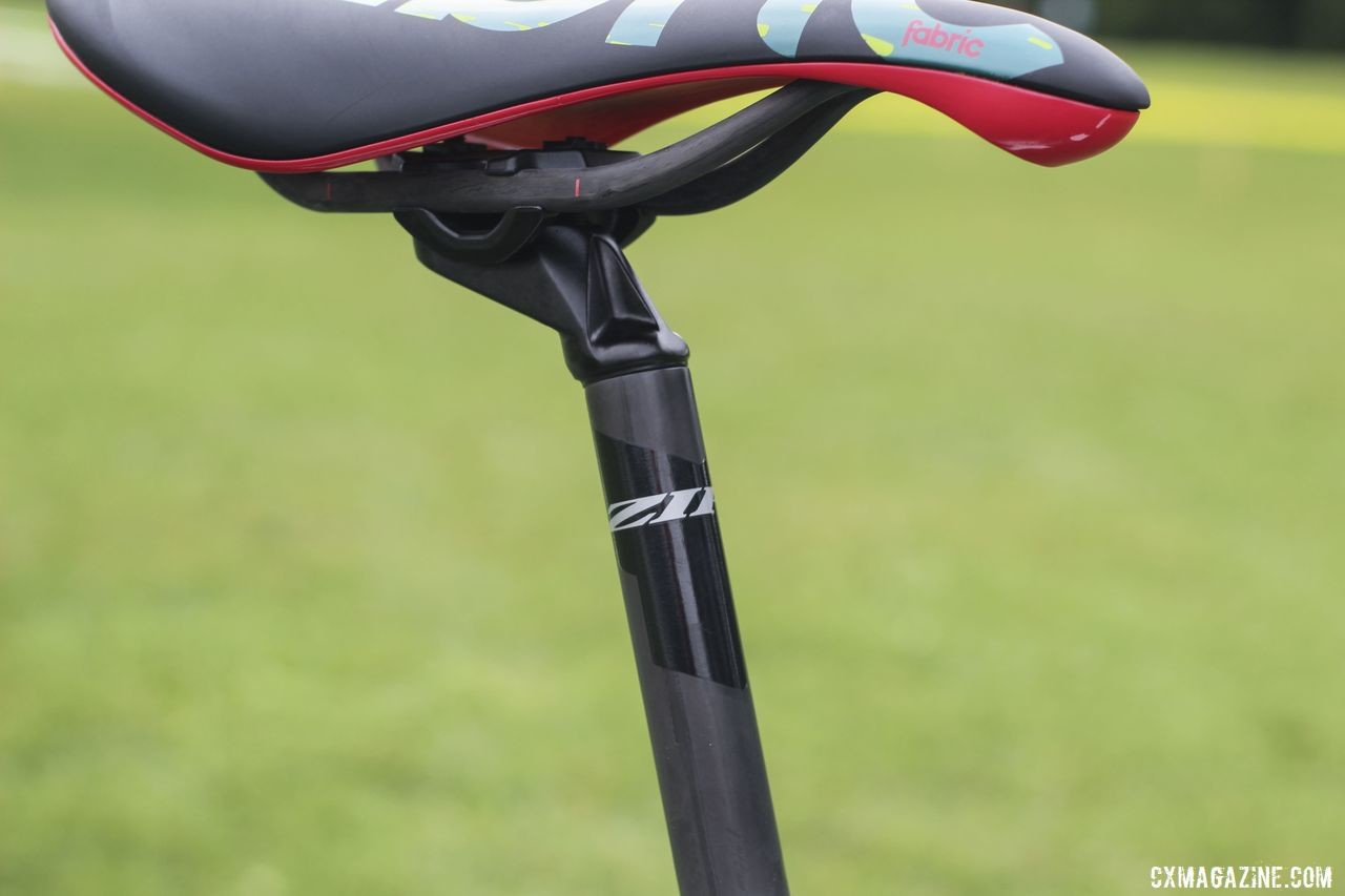 White held his saddle with a Zipp Service Course SL (20) seatpost. Curtis White's 2019/20 Cannondale SuperX Cyclocross Bike. © Z. Schuster / Cyclocross Magazine