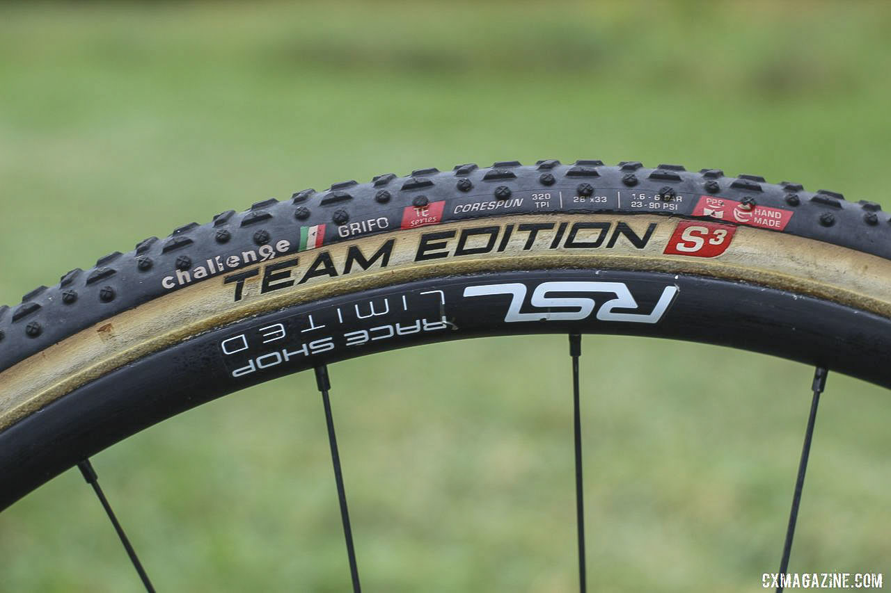 The Trek Factory Racing team is sponsored by Challenge and thus runs Team Edition tubulars. Jolanda Neff's 2019 World Cup Waterloo Trek Boone. © Z. Schuster / Cyclocross Magazine