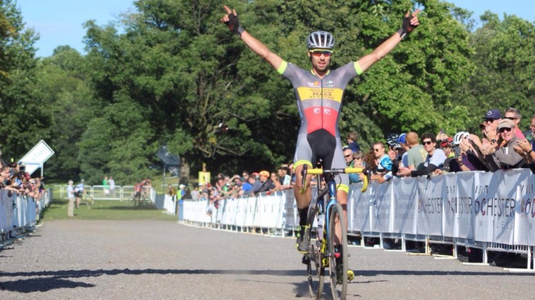 Vincent Baestaens took Day 1 of the 2019 Rochester Cyclocross weekend.