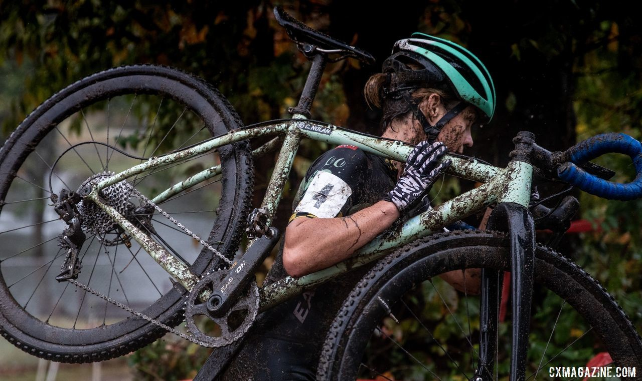 Racing cyclocross has been far from Caroline Nolan's mind recently. © Deghan Perker