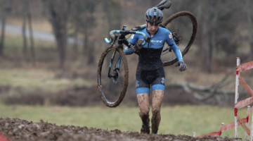 Regina Legge had an impressive afternoon, finishing sixth. Elite Women. 2018 Cyclocross National Championships, Louisville, KY. © A. Yee / Cyclocross Magazine