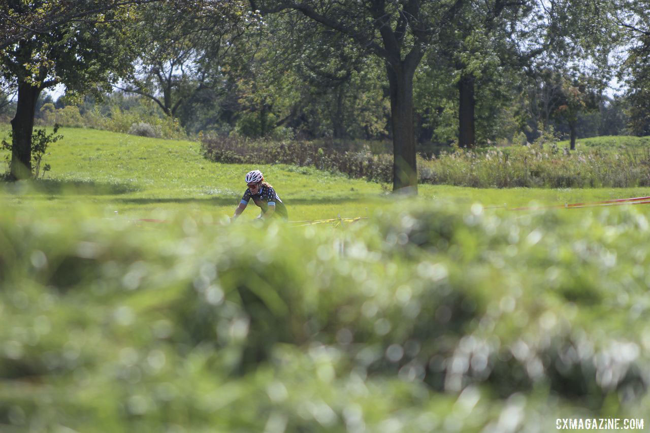 Old fairways and filled in bunkers were part of the scene at Indian Lakes. 2019 CCC Hopkins Park CX at Indian Lakes. © Z. Schuster / Cyclocross Magazine