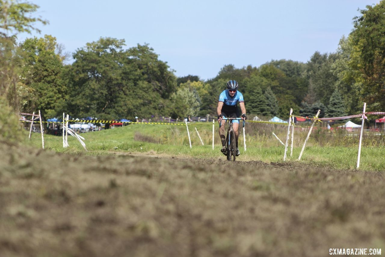 Nothing could stop Elite Women's winner Erin Feldhausen on Sunday. 2019 CCC Hopkins Park CX at Indian Lakes. © Z. Schuster / Cyclocross Magazine