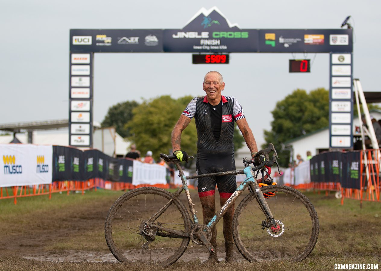 Lee Waldman after his Jingle Cross race on Sunday. © A. Yee / Cyclocross Magazine