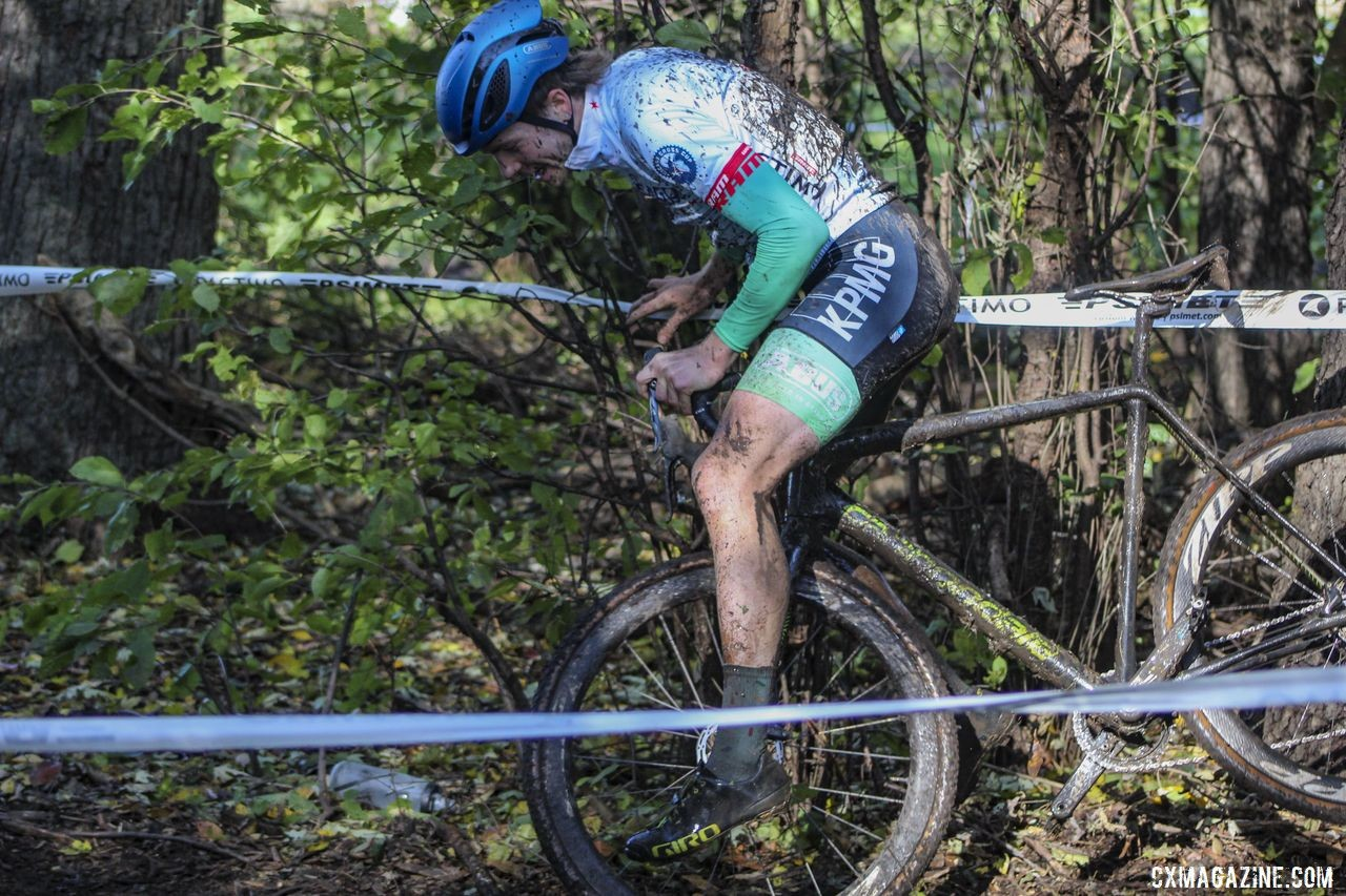 Even Rory Jack was not perfectly perfect on Sunday. 2019 Sunrise Park Cyclocross, Chicago Cross Cup. © Z. Schuster / Cyclocross Magazine