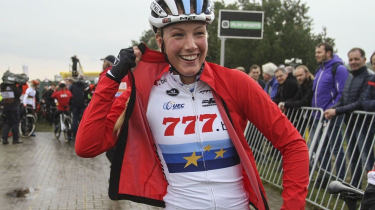 Lucky 7s for Annemarie Worst. 2019 Superprestige Gieten. © B. Hazen / Cyclocross Magazine