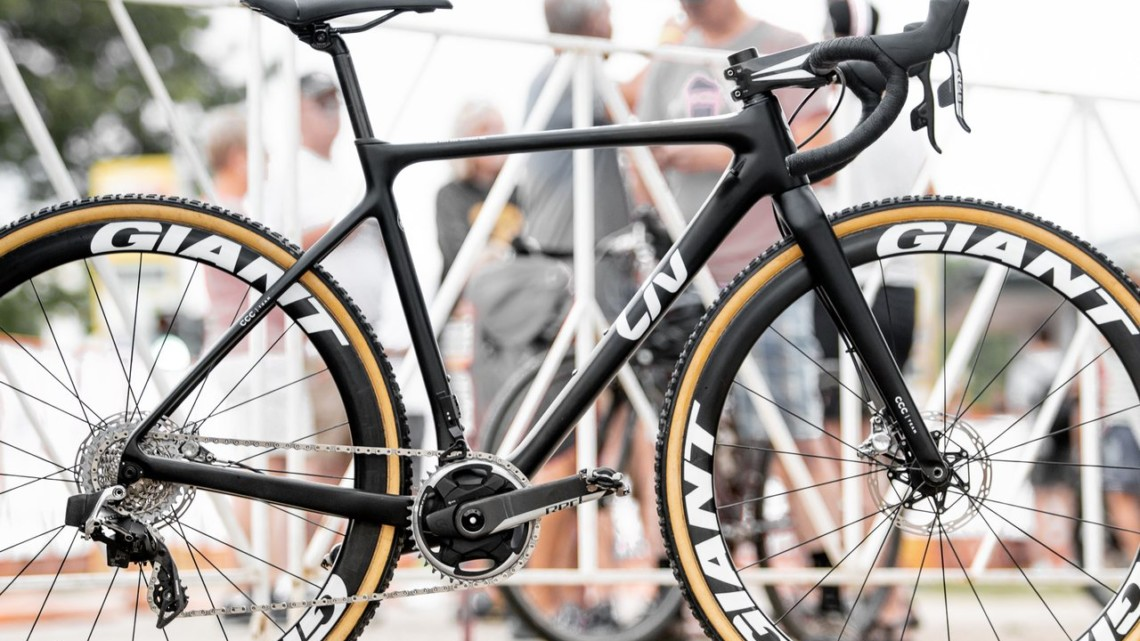 U23 World Champ Inge van der Heijden's Liv cyclocross bike from Jingle Cross. © A. Yee / Cyclocross Magazine