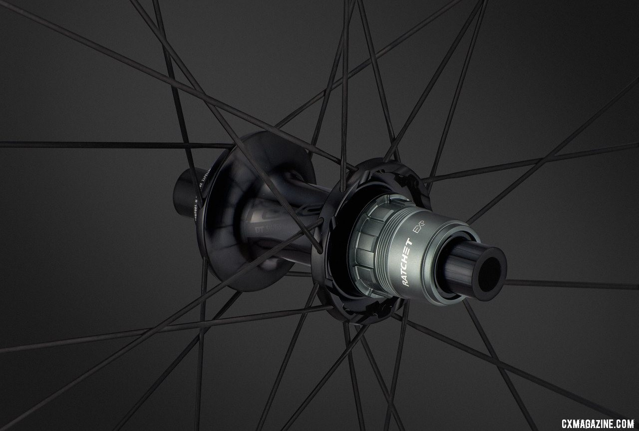 The new DT Swiss EXP freehub is lighter than the standard freehub and comes with both Shimano 11 and SRAM XDR driver options.