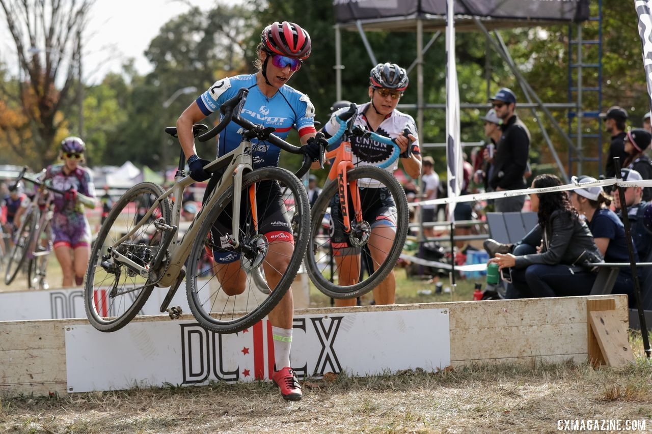 The Women's race was a tight battle throughout on Saturday. 2019 DCCX Day 1. © Bruce Buckley