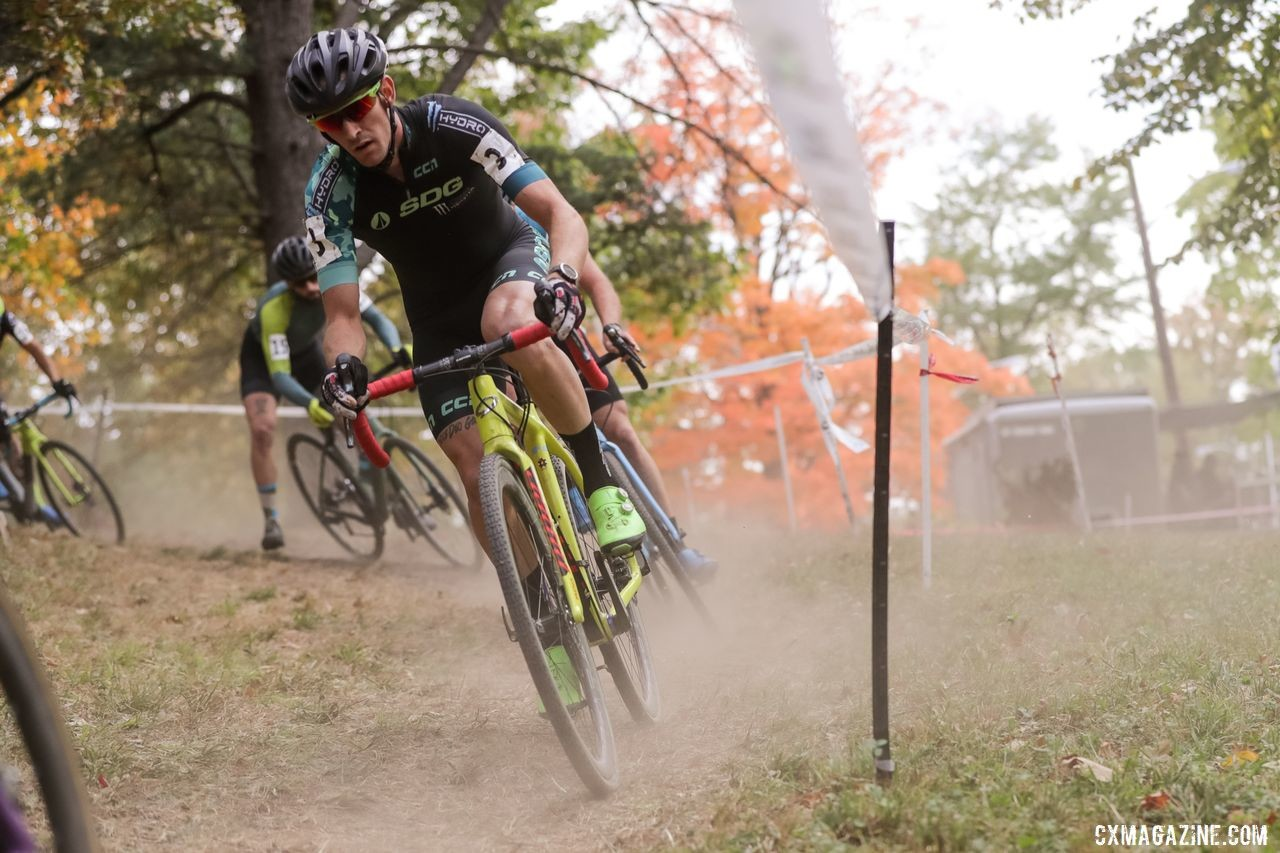 Saturday was dry and dusty. Sunday ... was not. 2019 DCCX Day 1. © Bruce Buckley