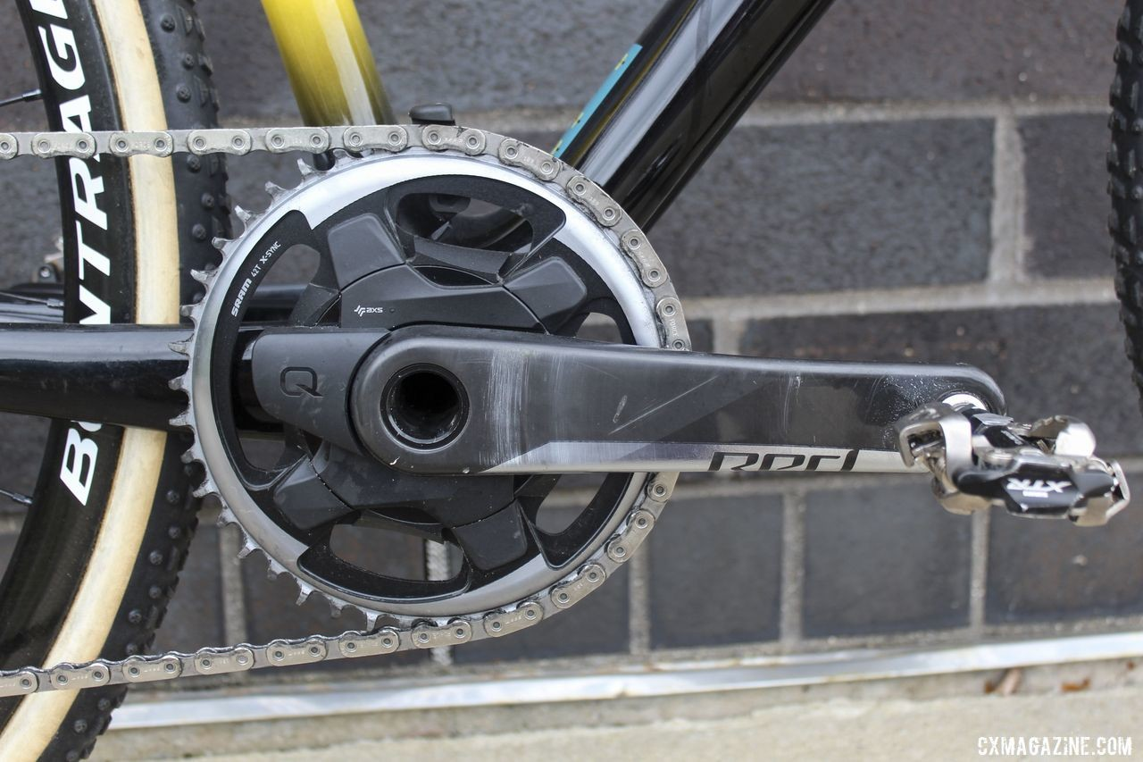 Nys ran a SRAM Red 1 AXS Power Meter crankset, which is a switch from Shimano for the team. Thibau Nys' 2019/20 Trek Boone. © Z. Schuster / Cyclocross Magazine