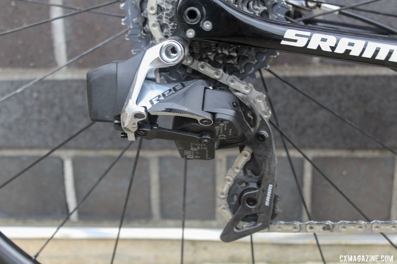 Nys and all the riders in the Telenet Baloise program switched to SRAM Red eTap AXS this season. Thibau Nys' 2019/20 Trek Boone. © Z. Schuster / Cyclocross Magazine