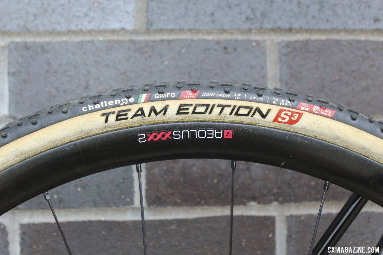 Nys had Challenge Grifo Team Edition tubulars mounted to Bontrager Aeolus XXX 2 carbon tubulars when we did our bike check. Thibau Nys' 2019/20 Trek Boone. © Z. Schuster / Cyclocross Magazine