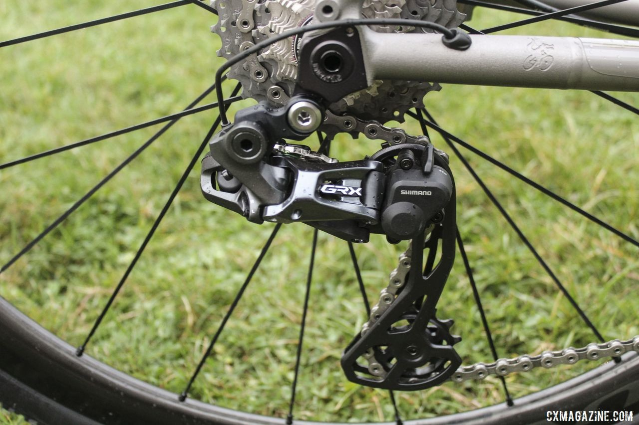 Fix went went with the clutch GRX rear derailleur for cyclocross this season. Brannan Fix's 2019/20 Moots Psychlo X RSL Cyclocross Bike. © Z. Schuster / Cyclocross Magazine