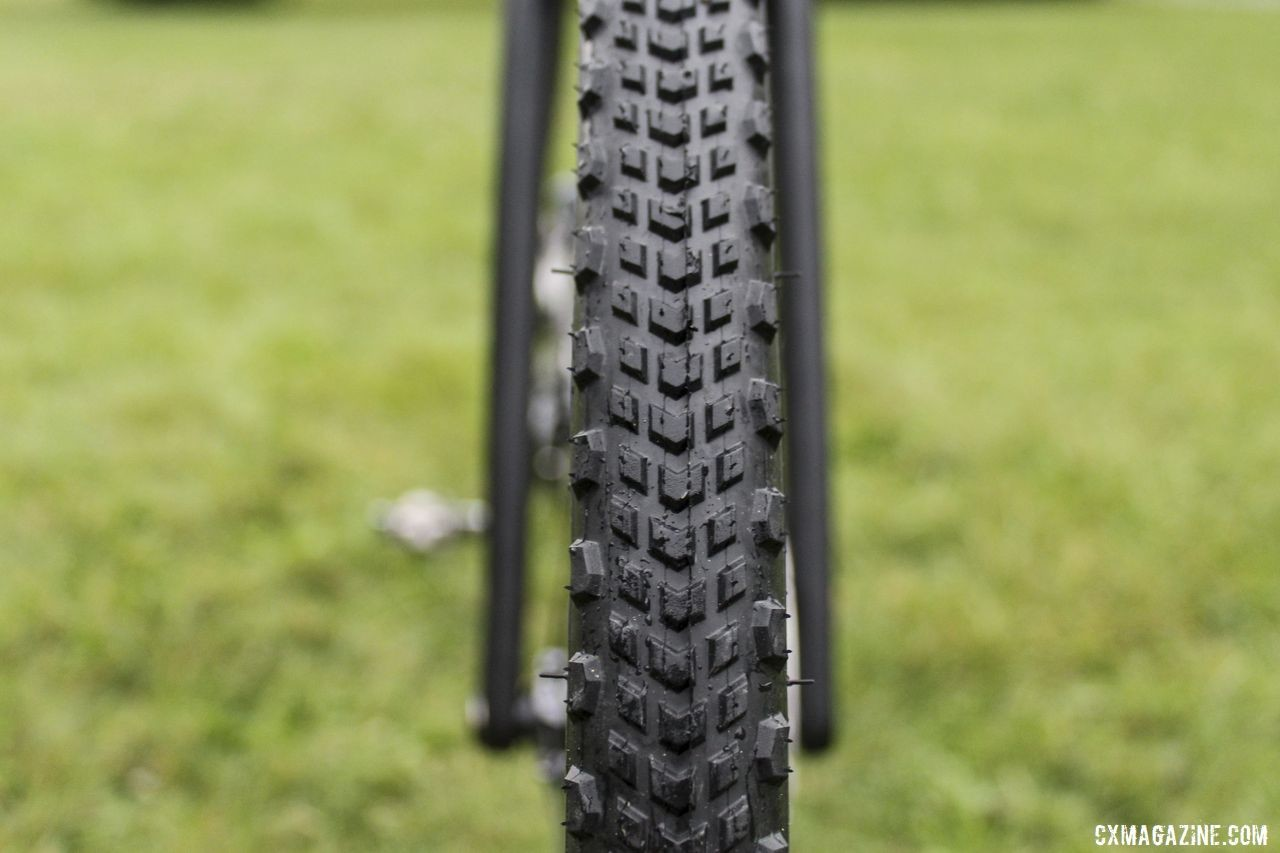 The Cinturato Cross H has an intermediate-style tread design. Brannan Fix's 2019/20 Moots Psychlo X RSL Cyclocross Bike. © Z. Schuster / Cyclocross Magazine