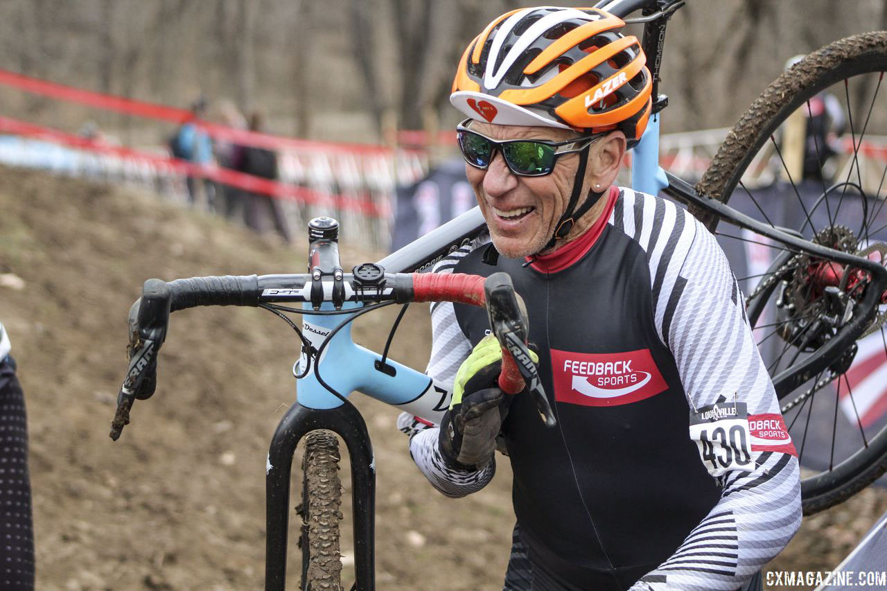 Lee Waldman at the 2018 Louisville Cyclocross Masters Nationals. © Z. Schuster / Cyclocross Magazine