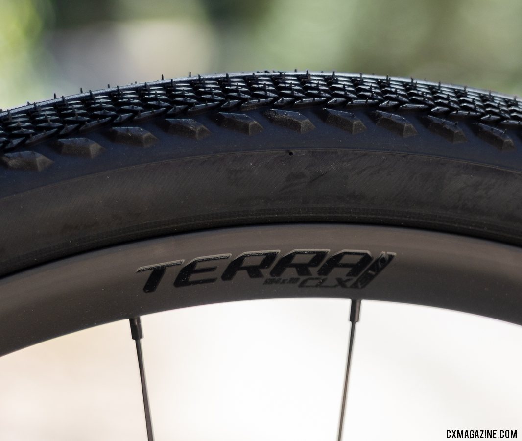 The 25mm-wide Terra CLX rim is 32mm deep. © A. Yee / Cyclocross Magazine