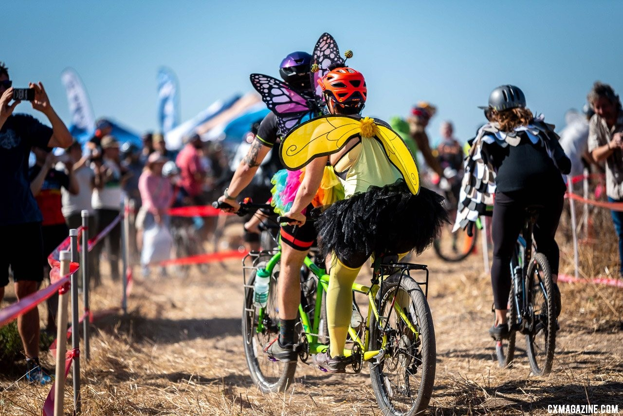 Tandem butterflies in the costume race. 2019 Surf City CX. © Jeff Vander Stucken
