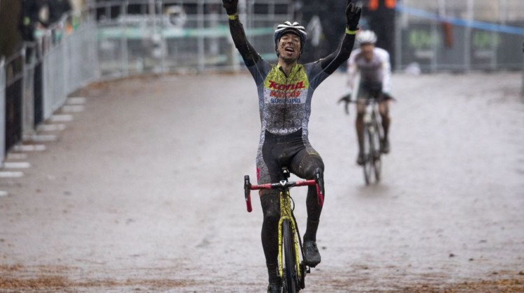 Kerry Werner captured the 2019 Pan-American Cyclocross Championship. © Nick Iwanyshyn