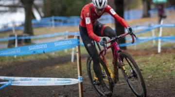 Maghalie Rochette mastered the mud at the 2019 Pan-American Cyclocross Championships. © Nick Iwanyshyn