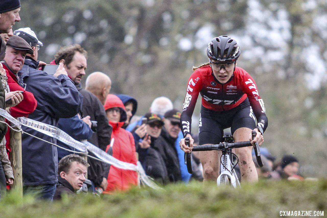 The course on Friday was slick and muddy, focused riders to focus for the full race. 2019 DVV Trofee Koppenbergcross. © B. Hazen / Cyclocross Magazine