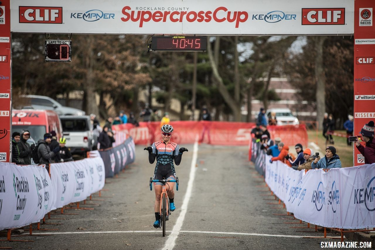 Fahringer T-Bexed her way to 10 UCI wins this season. 2019 Supercross Cup Day 2. © Angelica Dixon