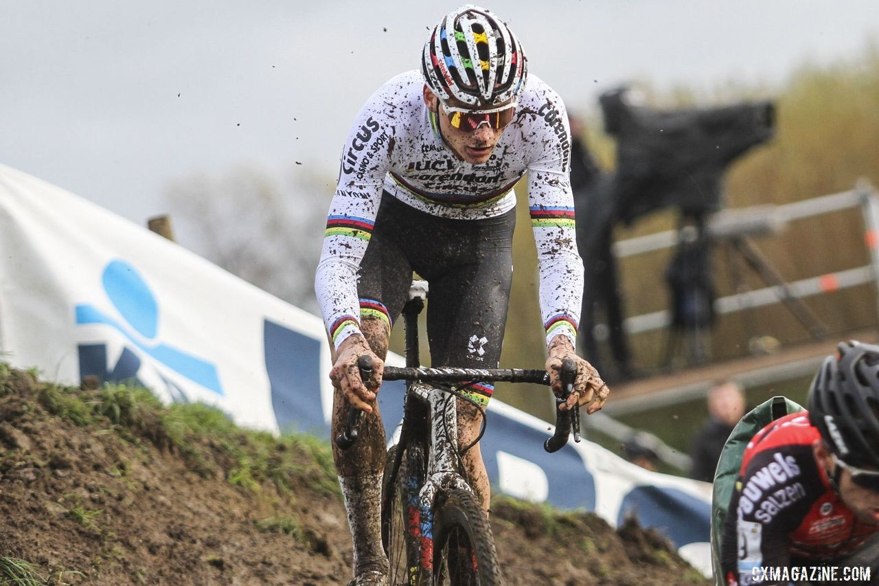 Mathieu van der Poel said it took him about half the race to get the cyclocross feeling back. 2019 Superprestige Ruddervoorde. © B. Hazen / Cyclocross Magazine