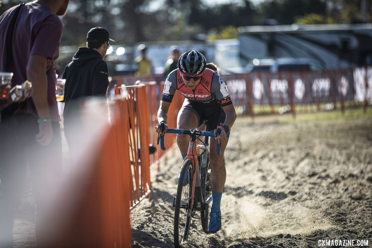 Rebecca Fahringer eventually got a gap and took the win. 2019 Really Rad Festival of Cyclocross Day 2. © Angelica Dixon