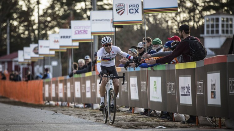 Curtis White celebrates his 7th UCI win of the season. 2019 Really Rad Festival of Cyclocross Day 2. © Angelica Dixon