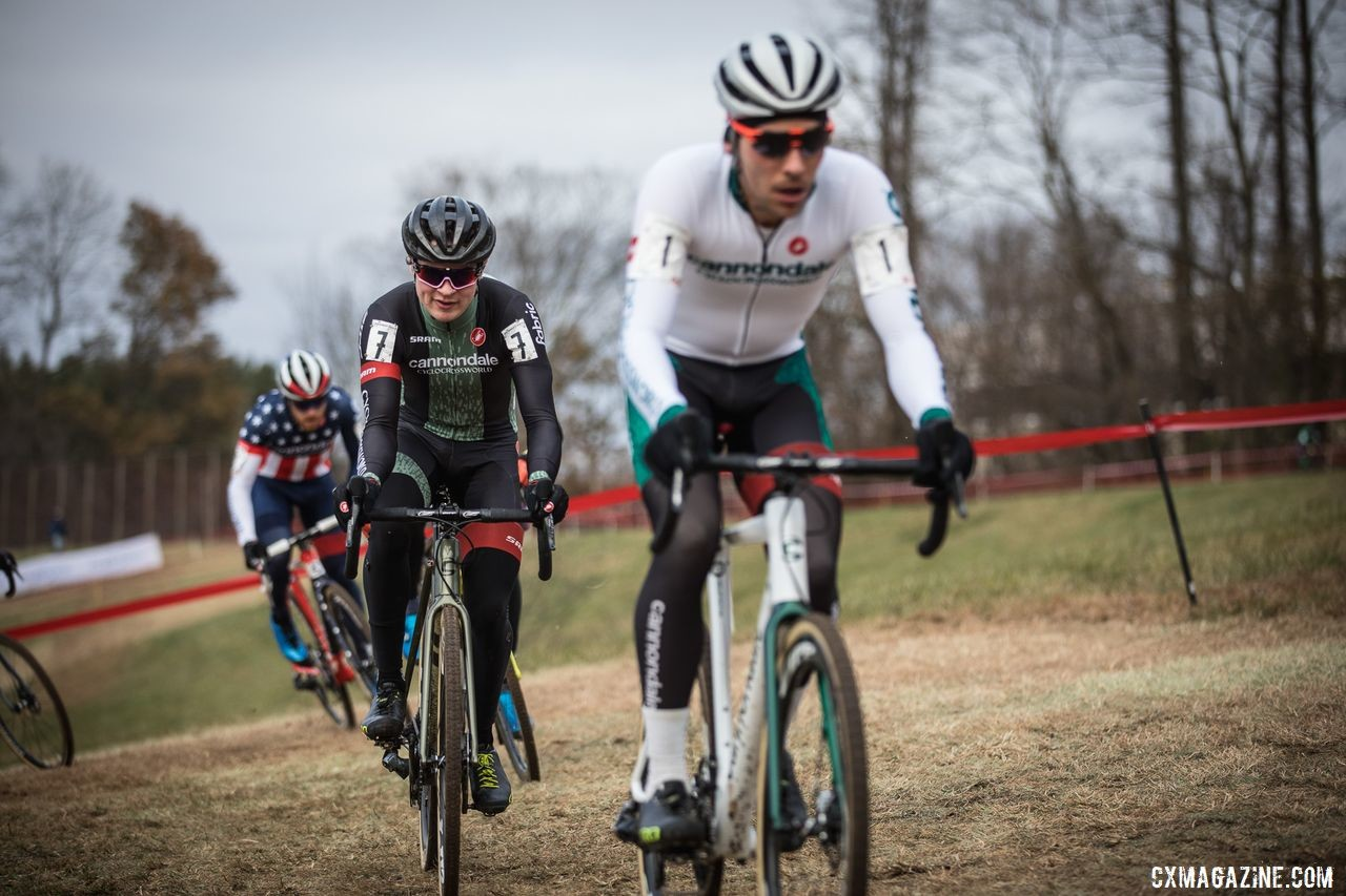 The Cannondale p/b CyclocrossWorld squad swept the podium on Sunday. 2019 Supercross Cup Day 2. © Angelica Dixon