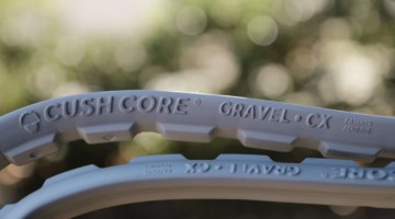 The design has gaps to allow sealant to move around. CushCore Gravel/CX Insert. © A. Yee / Cyclocross Magazine