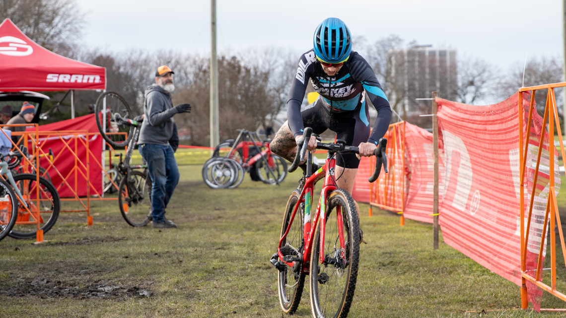 Maria Larkin is a mainstay in the Chicago Cross Cup. © SnowyMountain Photography