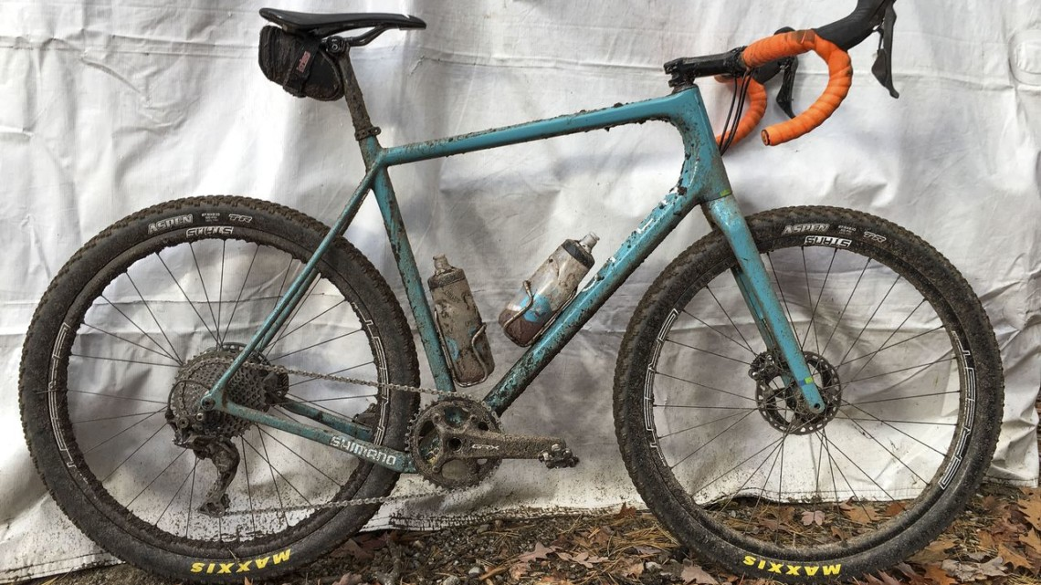 Geoff Kabush rode an Open WI.DE. at the 2019 Iceman Cometh Challenge. © B. Grant / Cyclocross Magazine