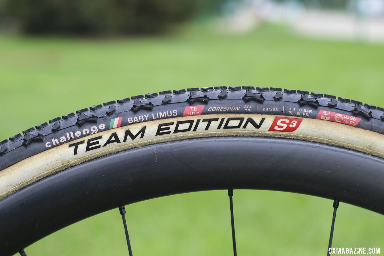 Gilbert is running Challenge Team Edition S3 tubulars this season. Sunny Gilbert's 2019/20 Van Dessel Full Tilt Boogie. © Z. Schuster / Cyclocross Magazine