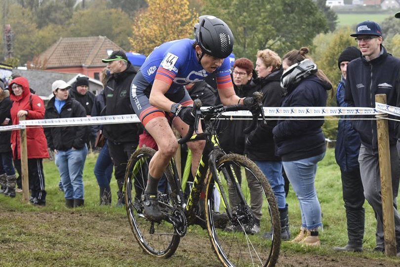 Corey Coogan Cisek had to rally after an unfortunate start to the Koppenbergcross. © Philippe Stevens