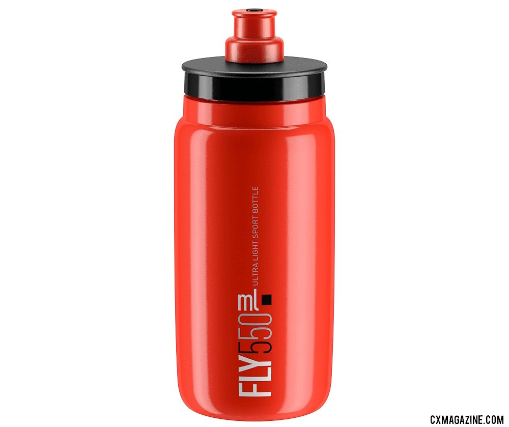 The Elite Fly 550 bottle is ultralight, carries just 18oz, and might be sized perfectly for a cyclocross race.