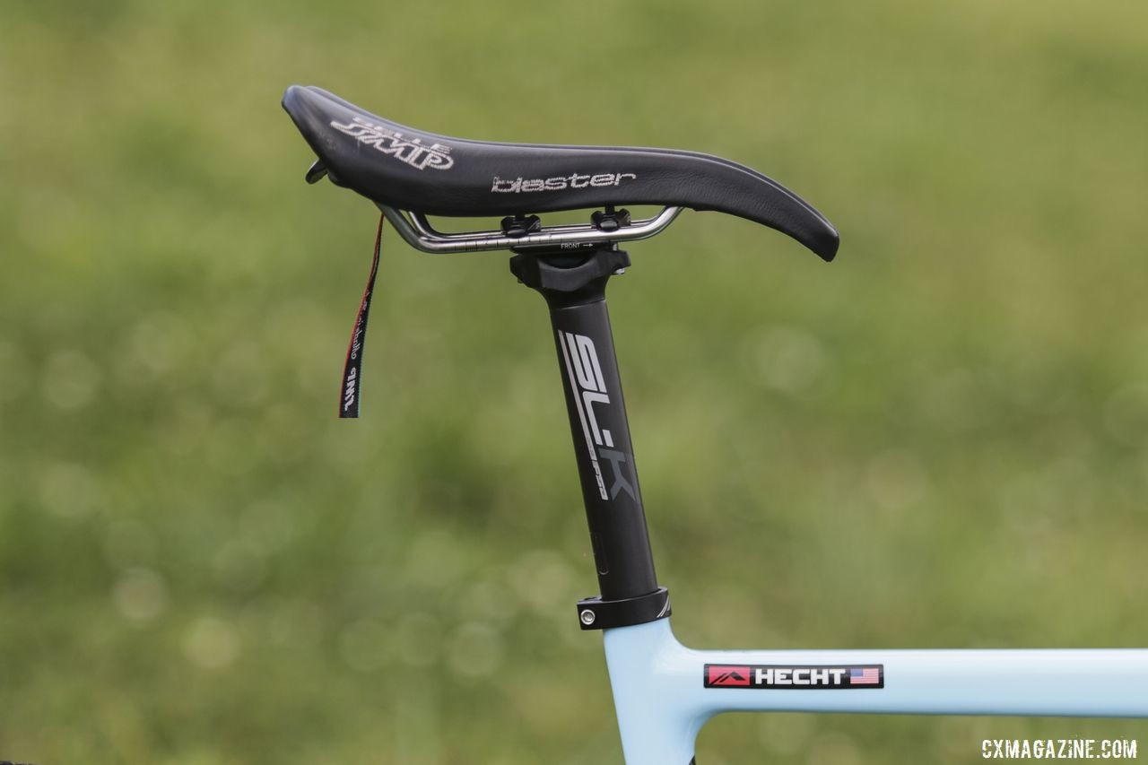 Hecht's Selle SMP saddle was held by an FSA SL-K seatpost. Gage Hecht's 2019 Donnelly C//C Cyclocross Bike. © Z. Schuster / Cyclocross Magazine