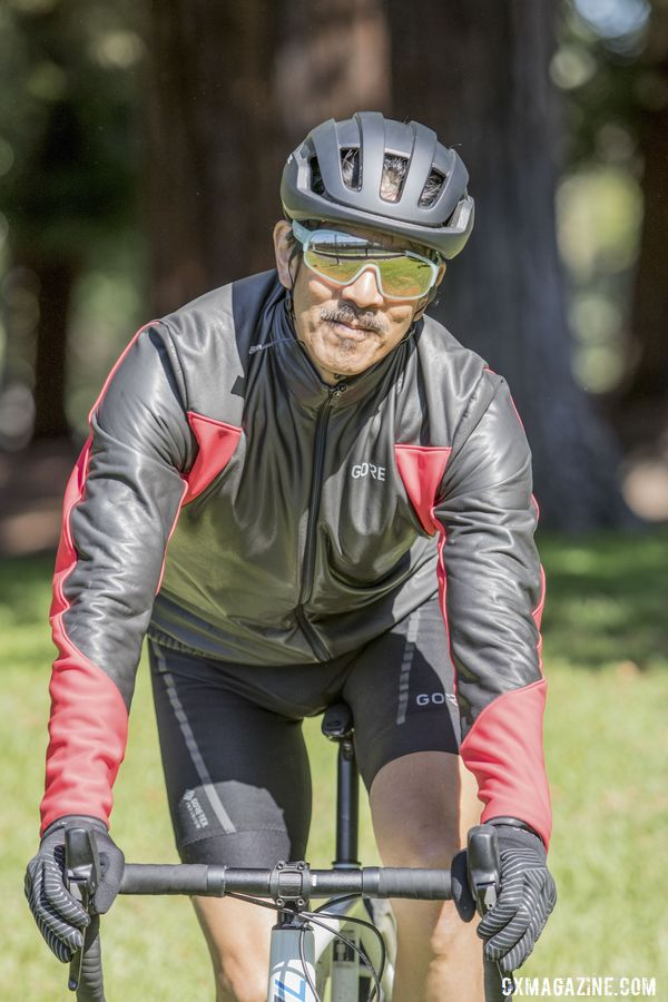The Soft Lined Thermo Jacket has a bit of an 80s vibe in appearance. Gore Gore-Tex Infinium Line. © C. Lee / Cyclocross Magazine