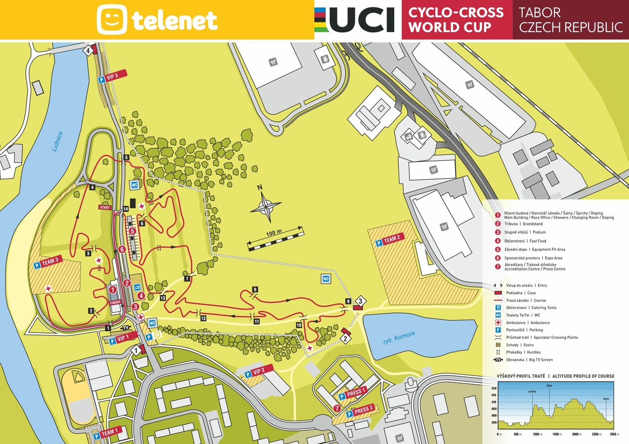 2019 World Cup Tabor course map