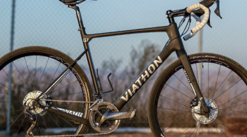 Viathon's G.1 carbon gravel bike review might be one of the best gravel frames for cyclocross. © A. Yee / Cyclocross Magazine