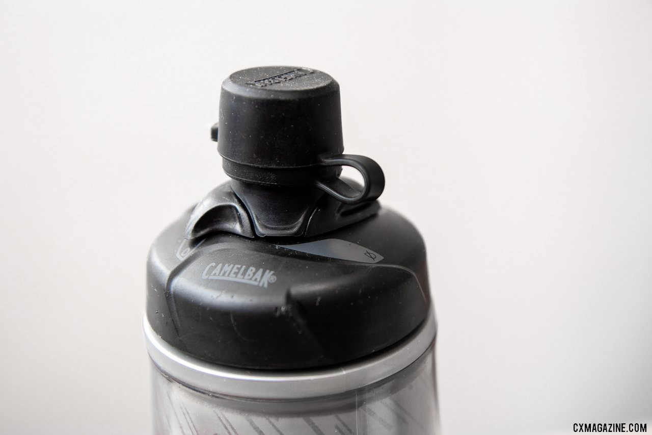 CamelBak's Podium Dirt water bottle keeps things clean during muddy cyclocross and dusty gravel. © Cyclocross Magazine