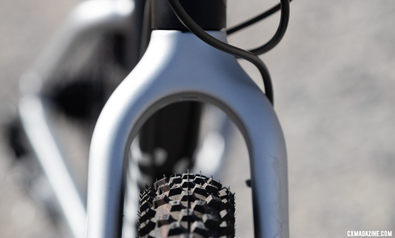 """There is room for mud or bigger tires. Woom Off 5 24"""" bike review. © A. Yee / Cyclocross Magazine"""