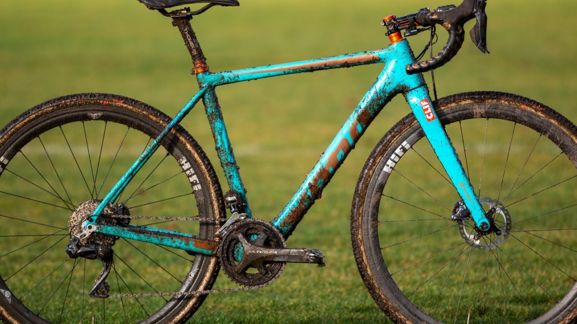 Clara Honsinger's Elite Women's winning Kona Major Jake cyclocross bike. 2019 USA Cycling Cyclocross National Championships bike profiles, Lakewood, WA. © A. Yee / Cyclocross Magazine